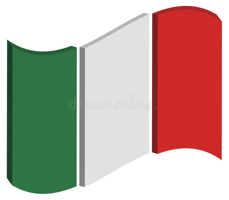 Abstract Italy Flag stock images