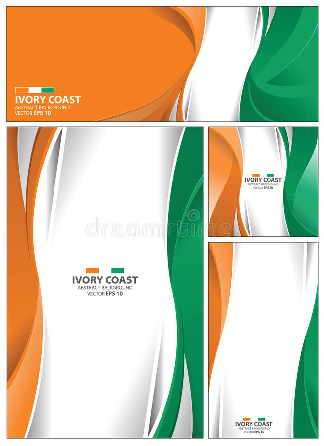 download abstract ivory coast flag background stock vector illustration 95598417