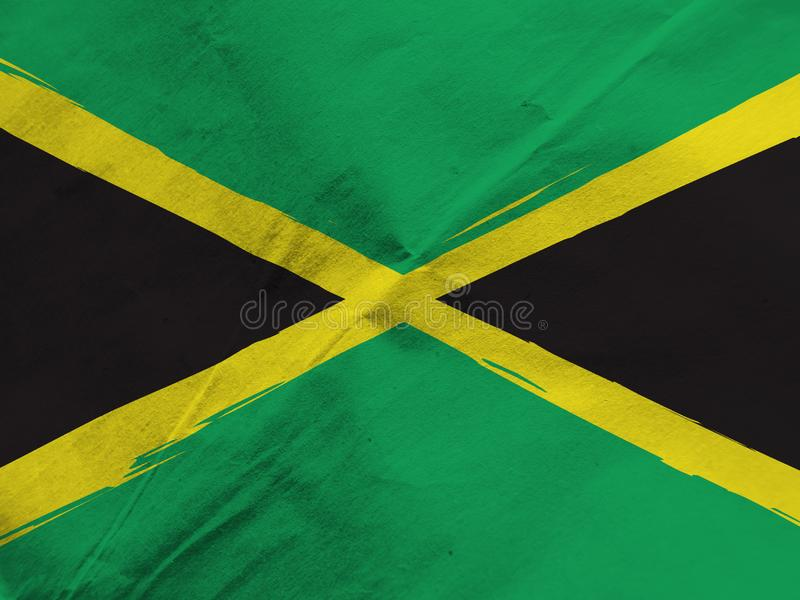 Abstract JAMAICAN flag. Or banner stock image