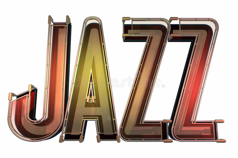 Abstract jazz background stock illustration