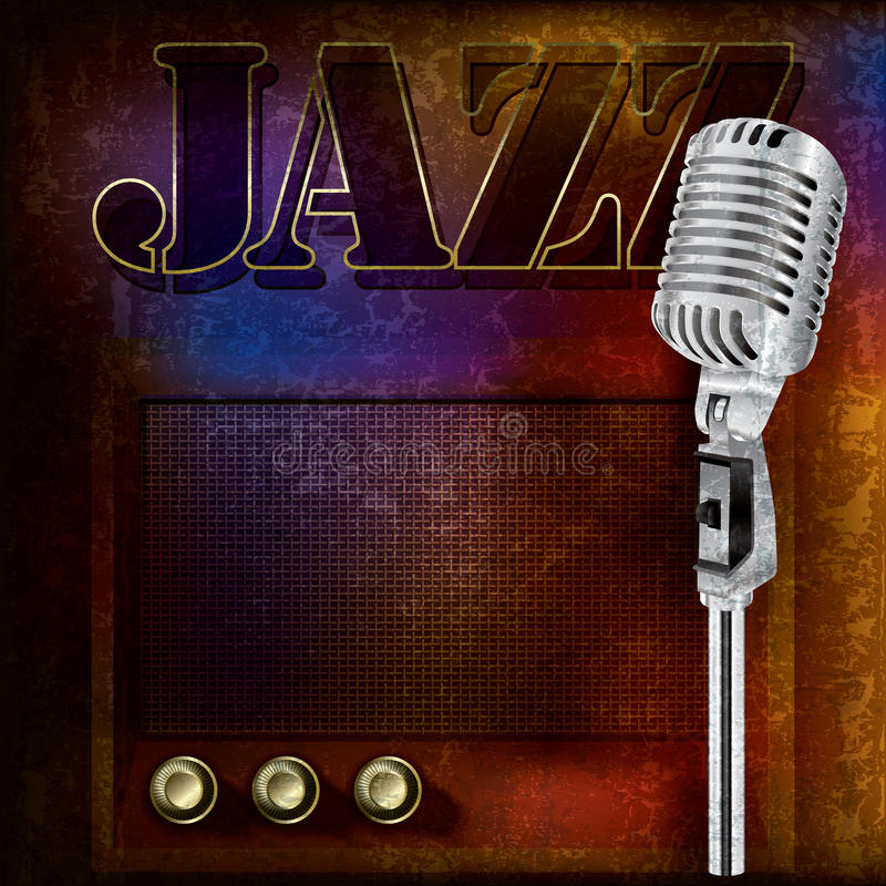 Abstract jazz background royalty free illustration