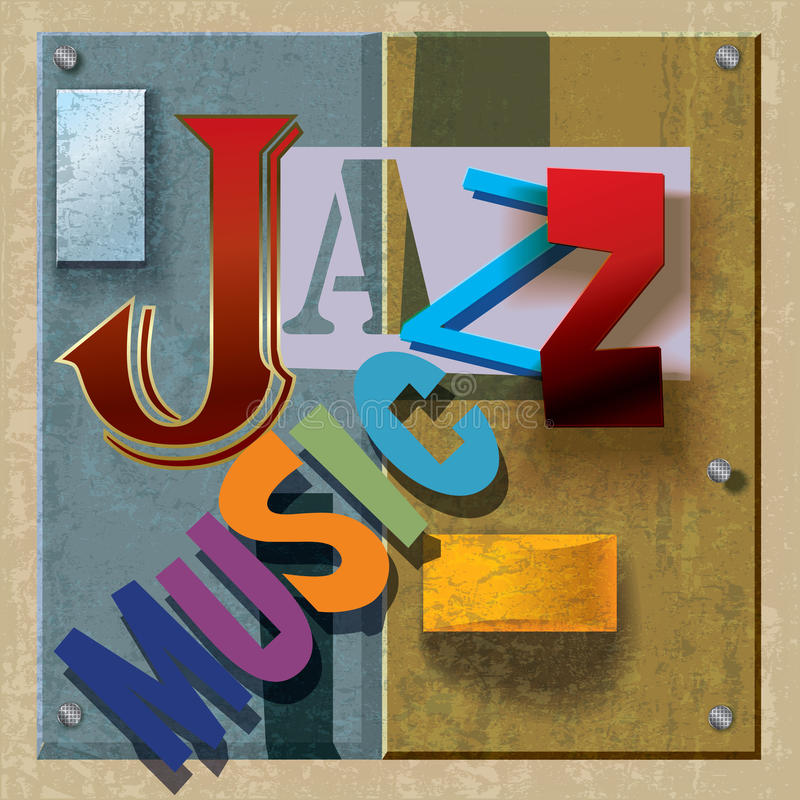 Abstract jazz music background stock illustration