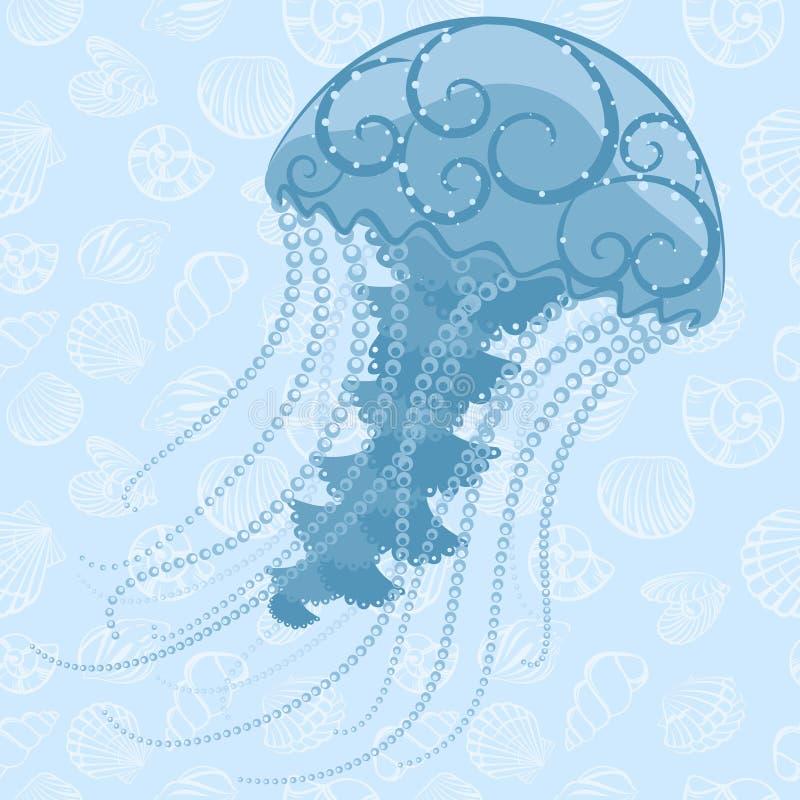 Download Abstract Jellyfish stock vector. Image of marine, seashall - 32706976
