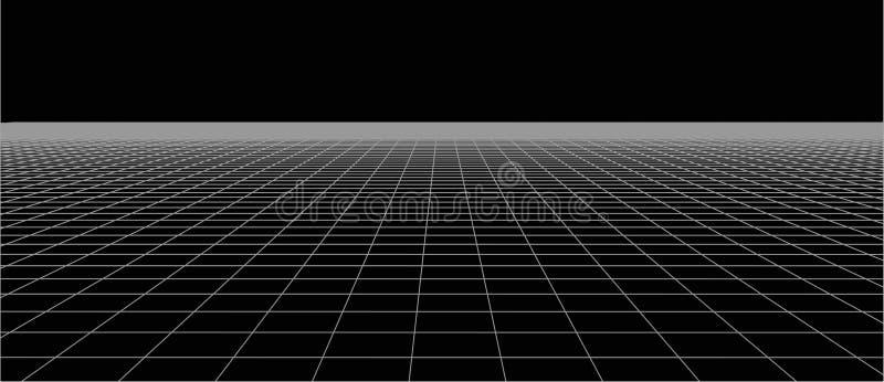 Abstract kaderlandschap Vectorperspectiefnet 3d netwerk vector illustratie