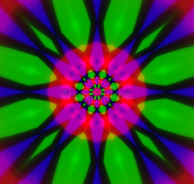 Abstract kaleidoscope stock illustration