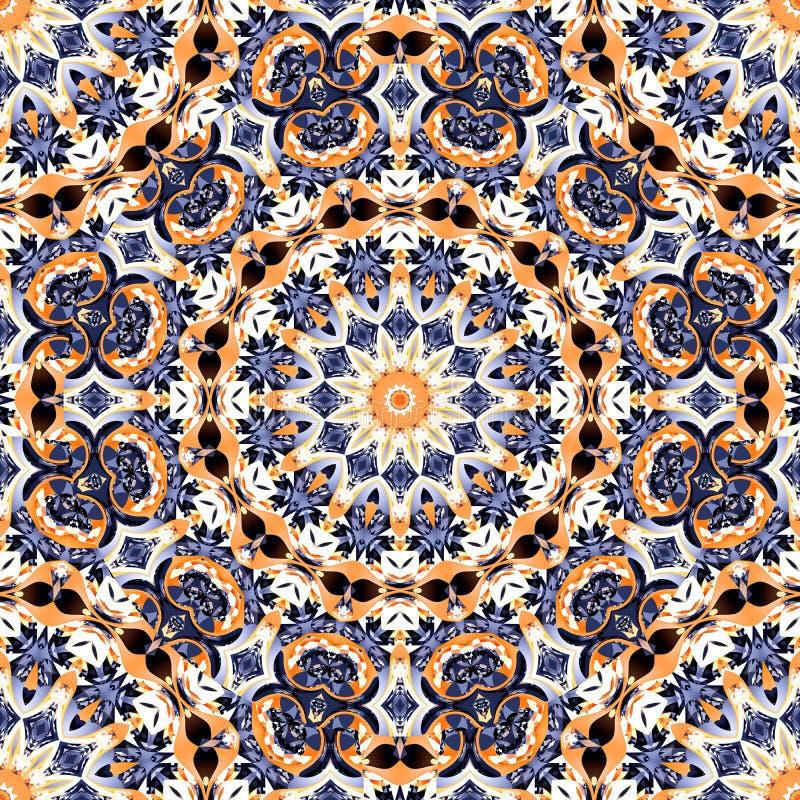 Abstract kaleidoscope mandala pattern design stock photos