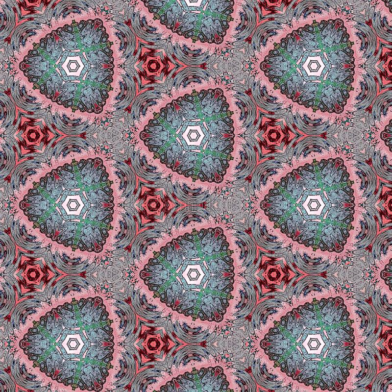 Abstract kaleidoscopic background as infinite continuous pattern stock image