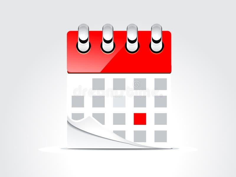 Abstract kalenderontwerp vector illustratie