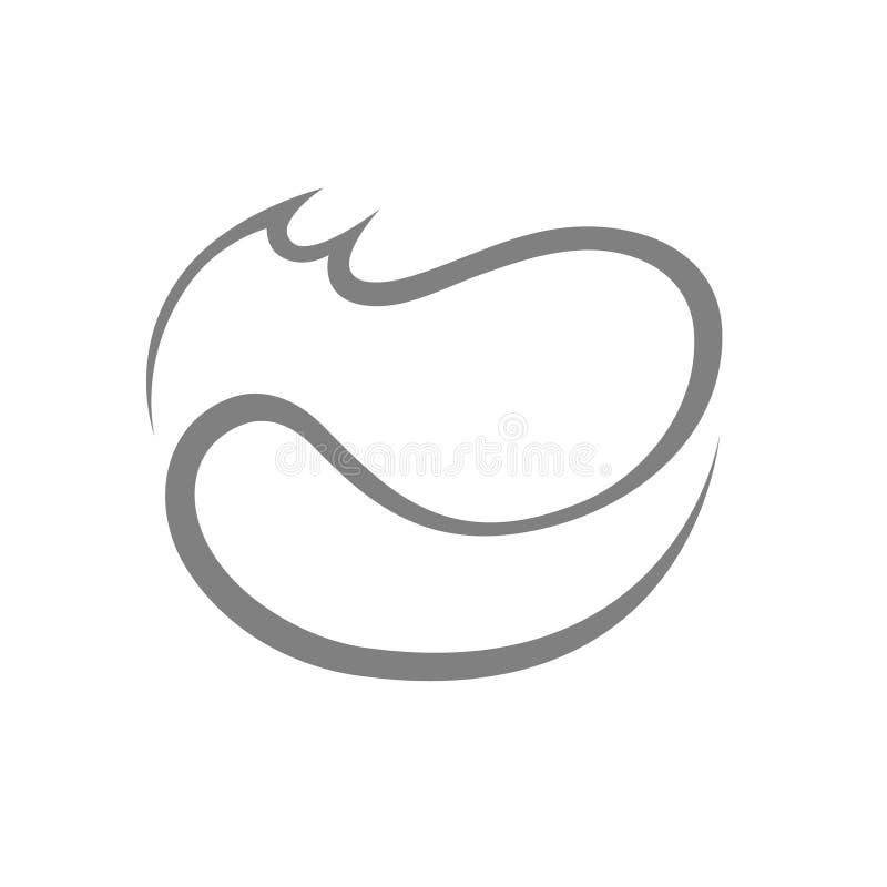 Abstract kattensymbool, pictogram op wit royalty-vrije illustratie