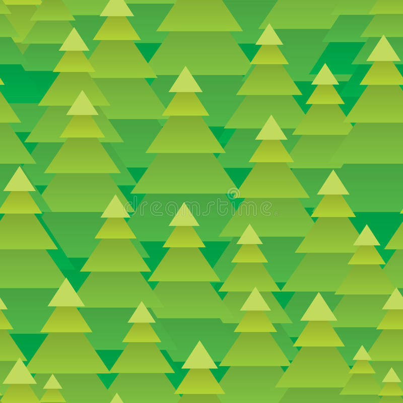 Abstract Kerstbomen bos naadloos patroon stock illustratie