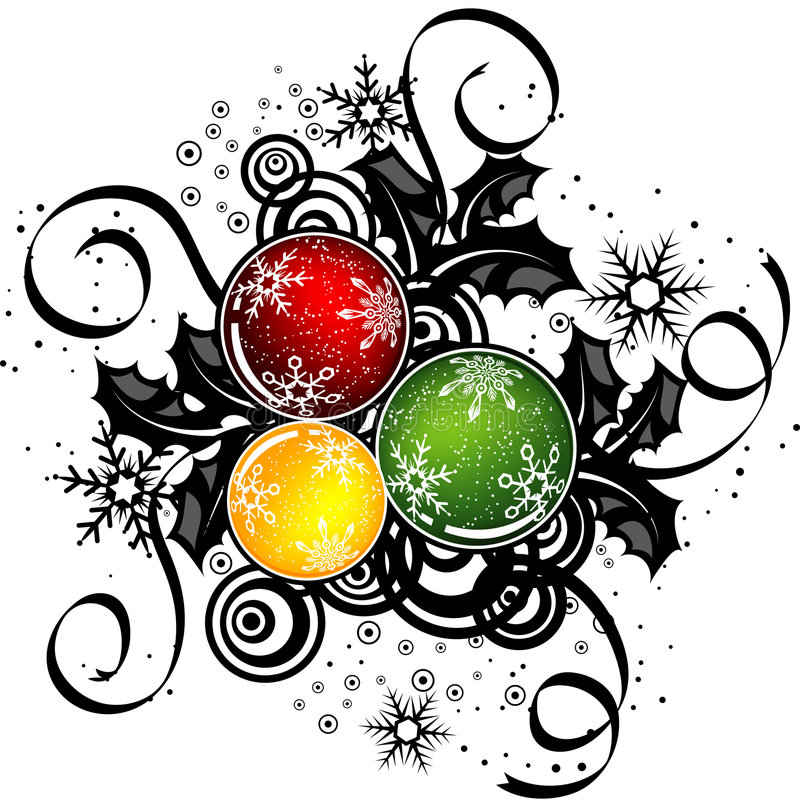 Abstract Kerstmisontwerp, vector vector illustratie