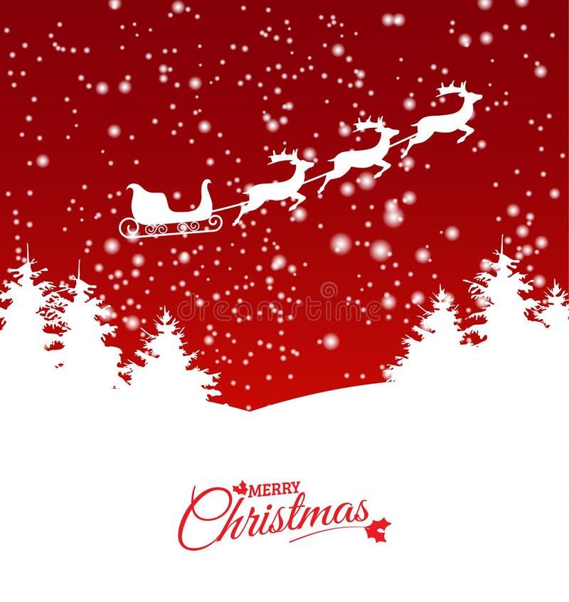 Abstract Kerstmisthema met rendierar stock illustratie