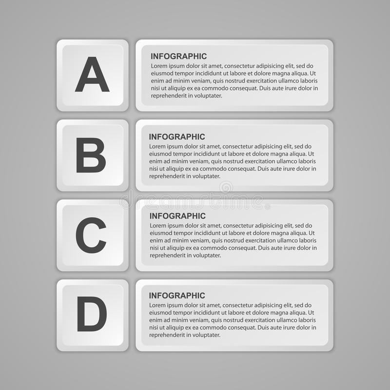 Abstract keyboard buttons infographic. Design element. Vector illustration vector illustration