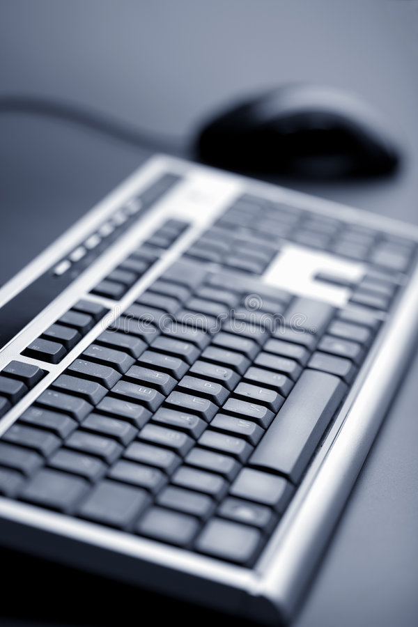 Abstract keyboard and mouse royalty free stock photography