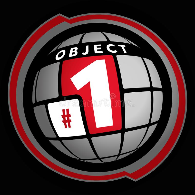 Abstract keyboard sphere. Object number 1. Cyber sport vector illustration stock illustration