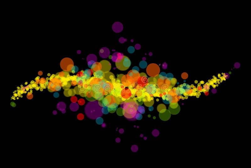 Abstract kleuren licht patroon stock illustratie