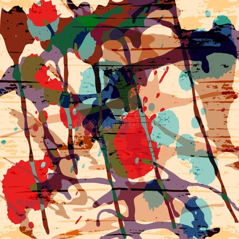 Abstract kleurenpatroon in de kwaliteits vectorillustratie van de graffitistijl voor uw ontwerp vector illustratie