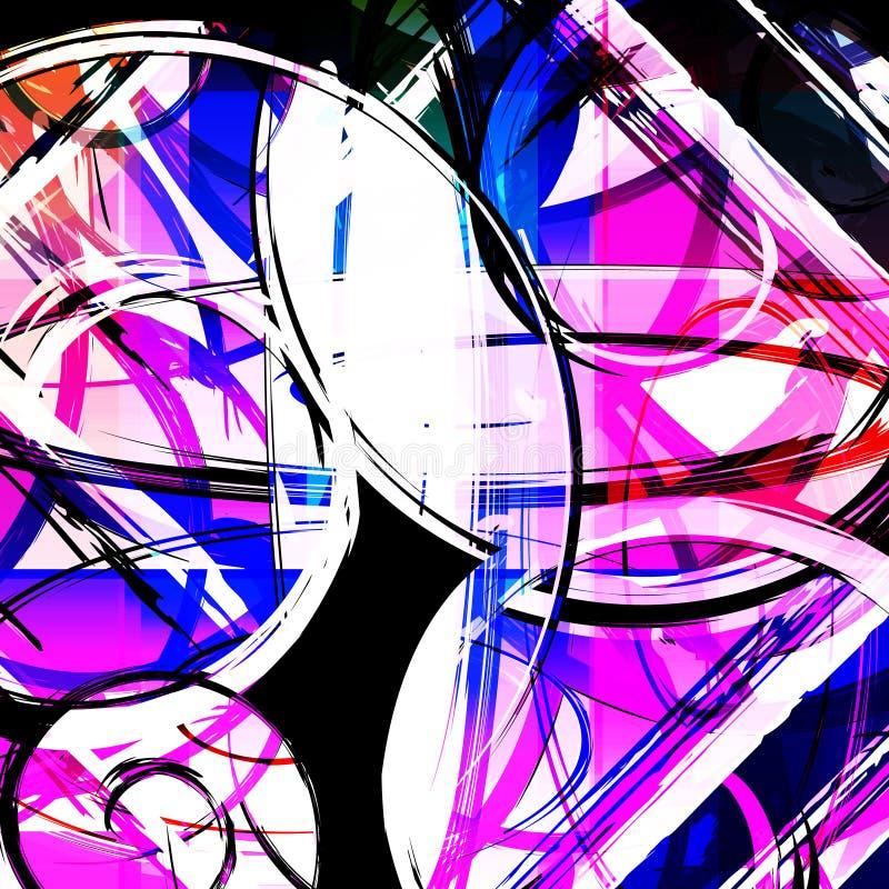 Abstract kleurenpatroon in de kwaliteits vectorillustratie van de graffitistijl voor uw ontwerp stock illustratie