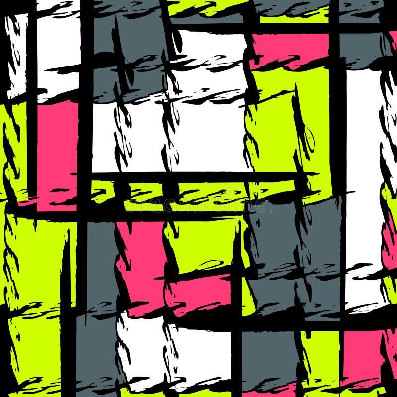 Abstract kleurenpatroon in graffitistijl kwaliteits vectorillustratie voor uw ontwerp royalty-vrije illustratie