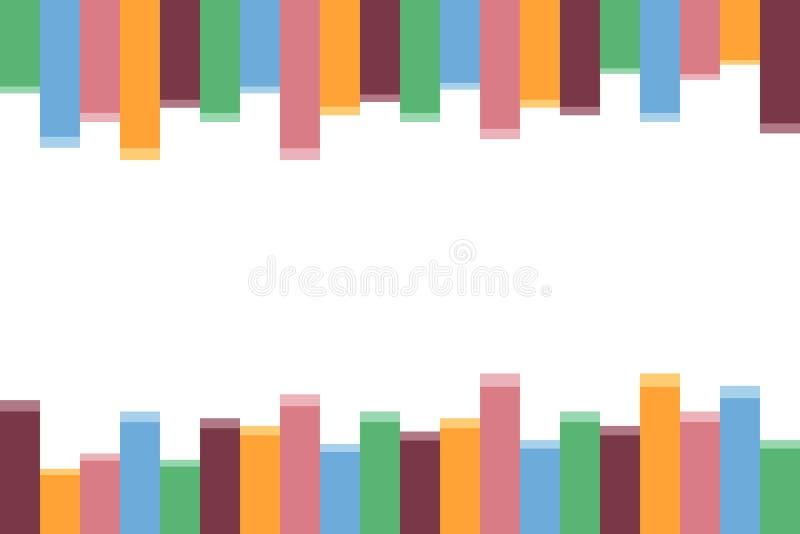 Abstract kleurrijk bar achtergrond vectorillustratieontwerp voor uw inhoud stock illustratie