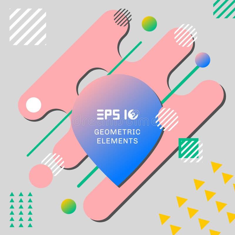 Abstract kleurrijk creatief geometrisch patroon op grijze achtergrond vector illustratie