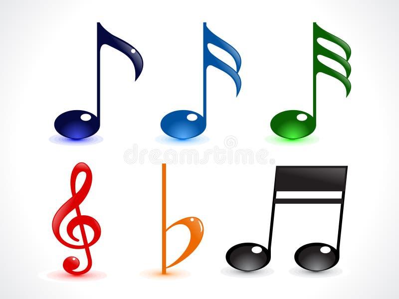 Abstract kleurrijk glanzend musicawoord vector illustratie
