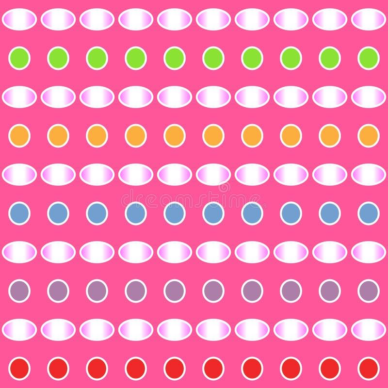 Abstract kleurrijk gradiëntpatroon van cirkel en ellipsvormen op roze achtergrond Vector illustratie royalty-vrije illustratie