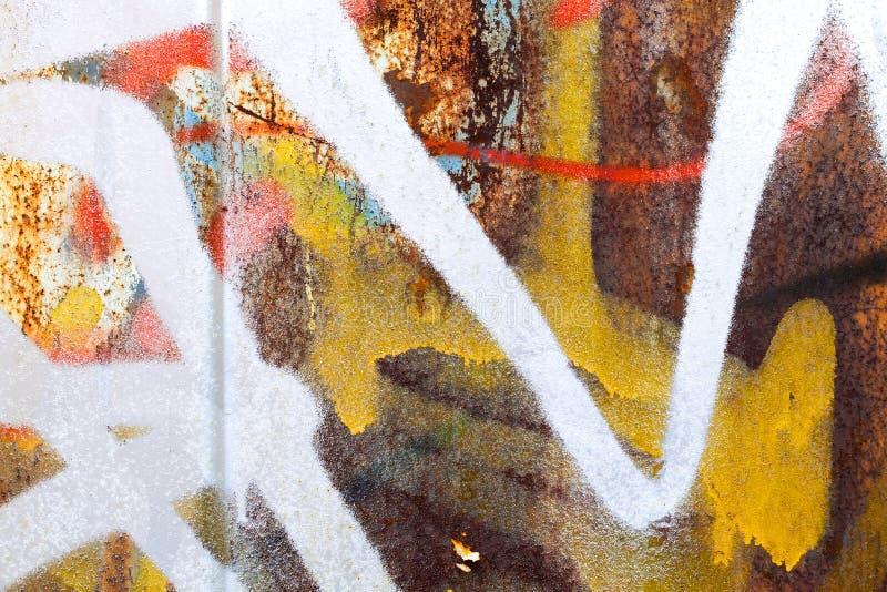 Abstract kleurrijk graffitifragment stock foto's