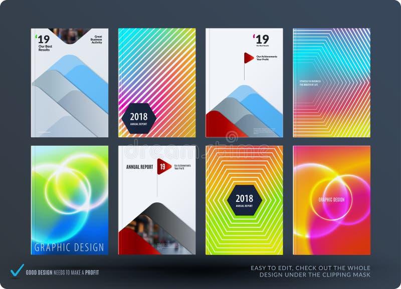 Abstract kleurrijk grafisch ontwerp van brochure in vloeibare vloeibare stijl met vage vlotte achtergrond vector illustratie