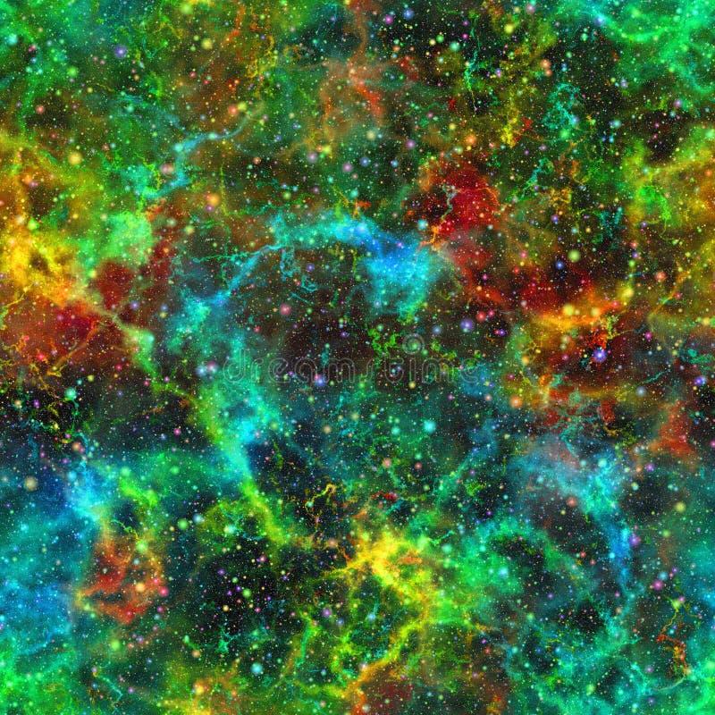Abstract kleurrijk heelal, de sterrige hemel van de Nevelnacht, Veelkleurige kosmische ruimte, Galactische textuurachtergrond, Na vector illustratie