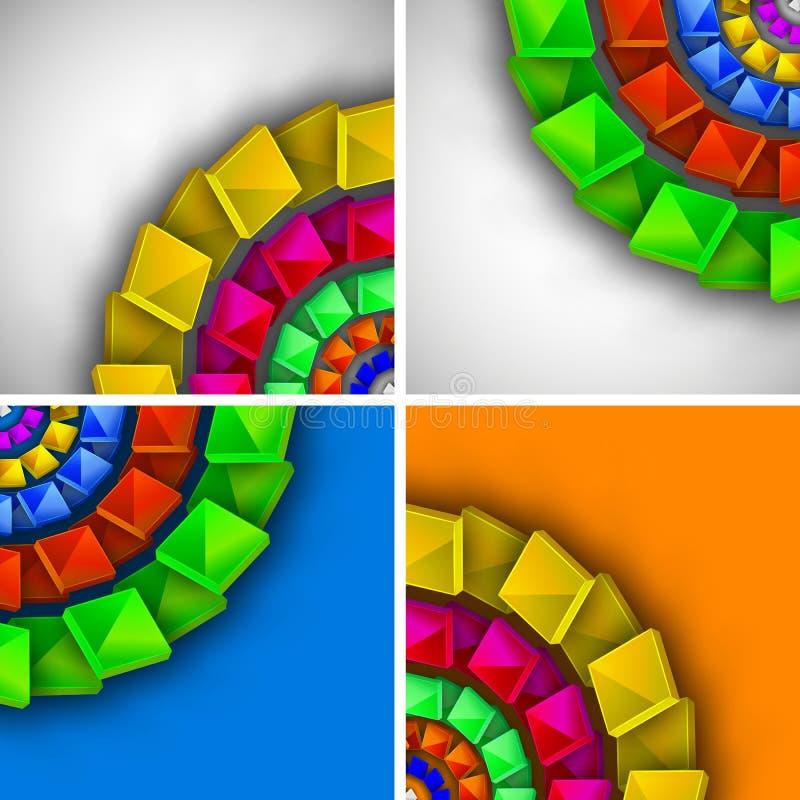 Abstract kleurrijk modern ontwerp royalty-vrije illustratie