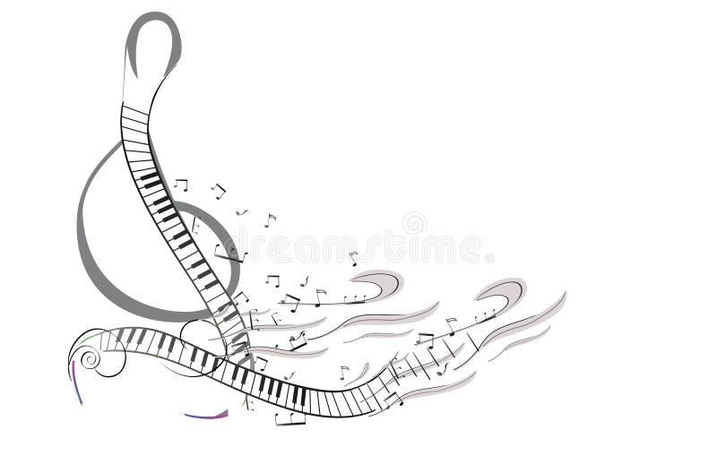 Abstract kleurrijk muzikaal afficheontwerp met nota's en muzikale golven vector illustratie