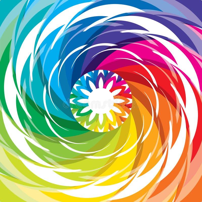 Abstract kleurrijk ontwerp in regenboogpatroon royalty-vrije illustratie