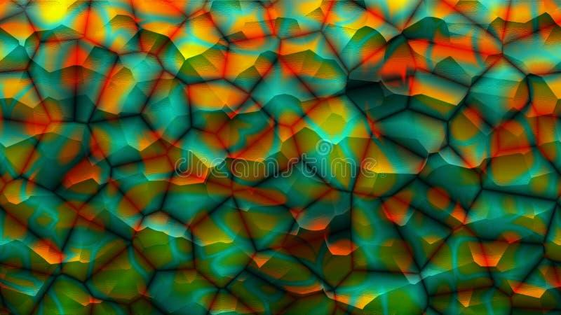 Abstract kleurrijk stenenbehang Kunstachtergronden Multicolored mozaïek Abstracte geometrische lijn royalty-vrije illustratie