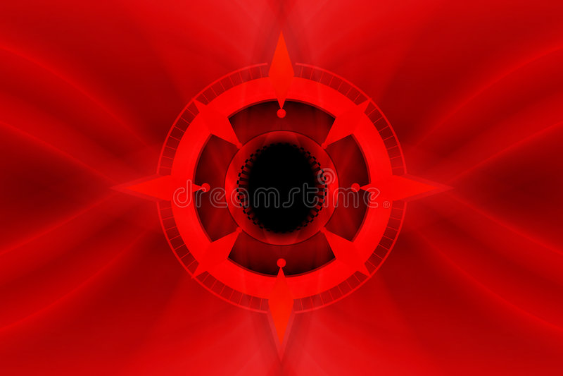 Abstract kompas stock illustratie