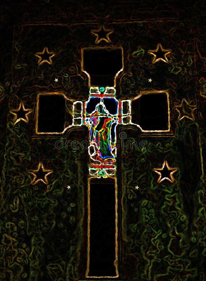 Abstract Kruisbeeldkruis royalty-vrije stock foto