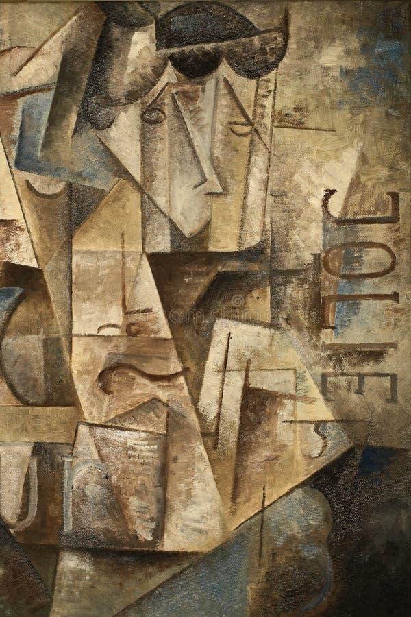 Abstract kubismeolieverfschilderij royalty-vrije stock foto