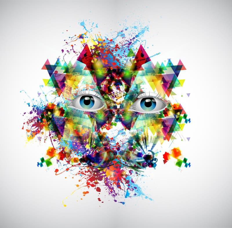 Download Abstract kunstbeeld stock illustratie. Illustratie bestaande uit atomen - 39104271