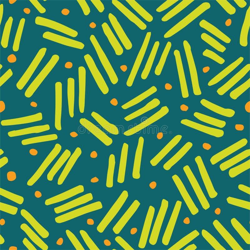 Abstract Kwaststreken Naadloos het Herhalen Patroon stock illustratie