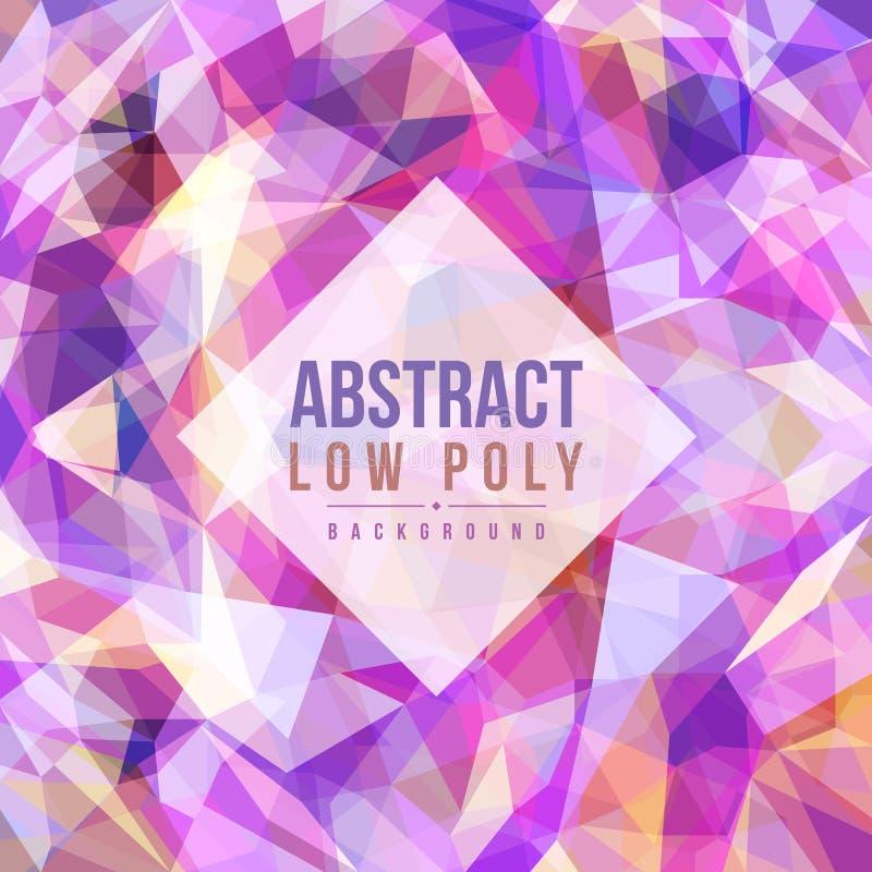 Abstract laag poly purper toon achtergrond vectorkunstontwerp vector illustratie