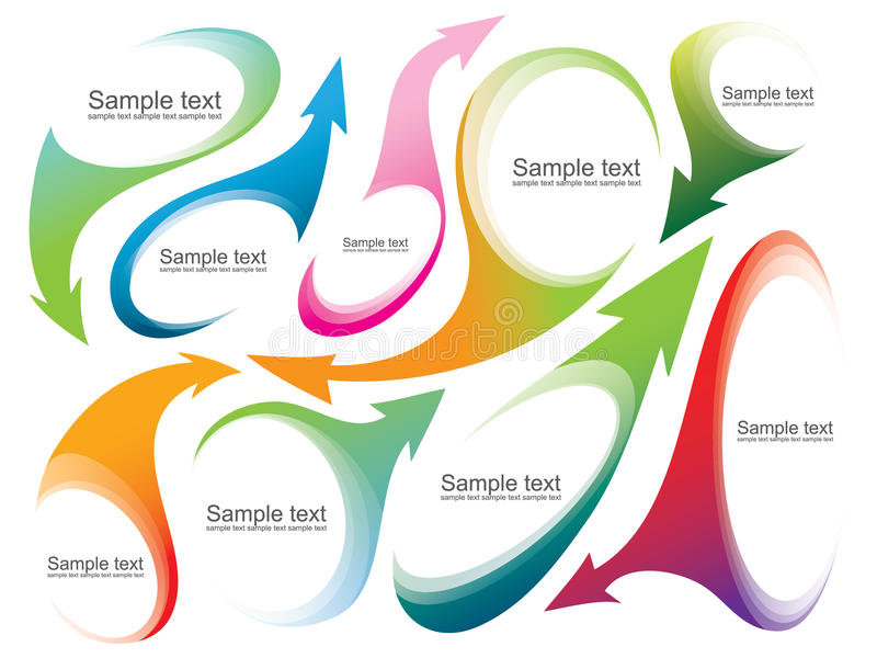 Download Abstract Labels Or Banners With Arrows And Text Pl Stock Vector - Image: 26503078
