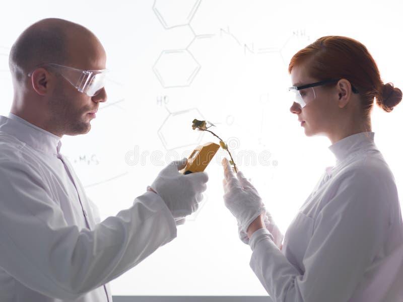 Abstract laboratoriumexperiment royalty-vrije stock afbeelding