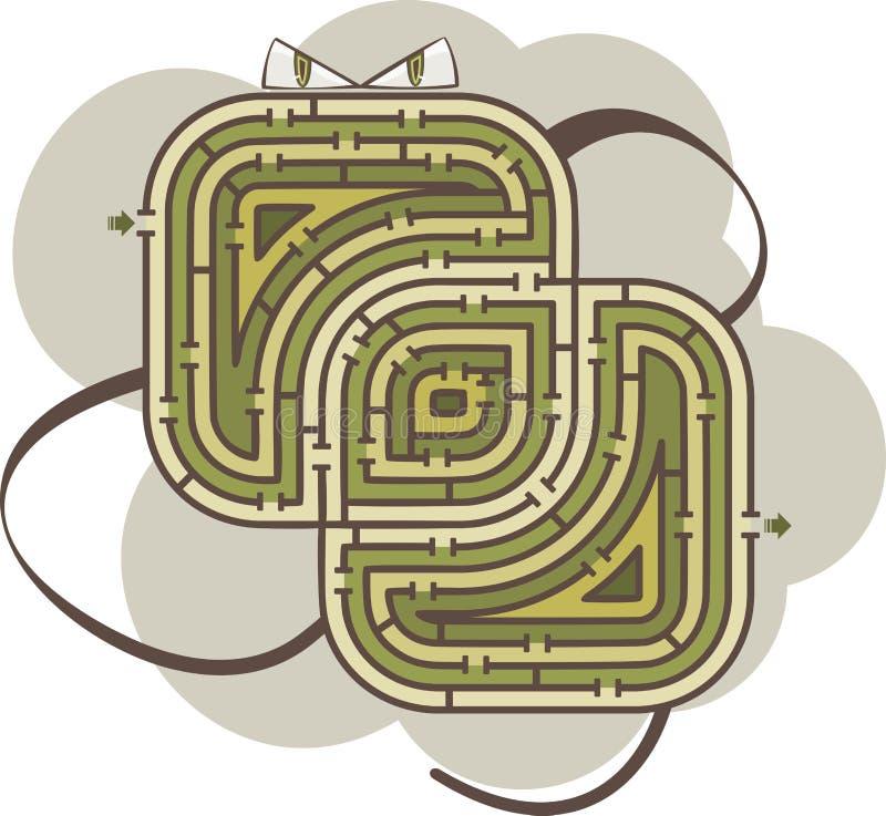 Abstract labyrint royalty-vrije illustratie