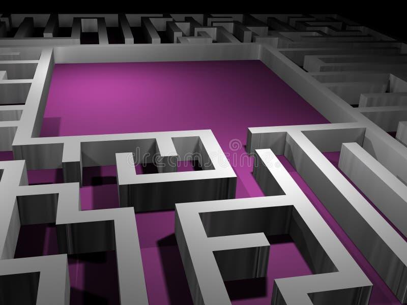 Abstract labyrint - vind een oplossing vector illustratie