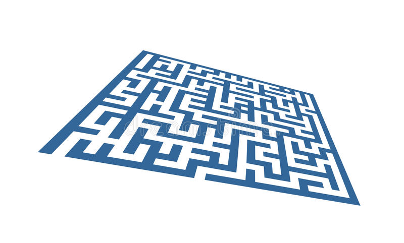 Abstract labyrinth pattern stock illustration