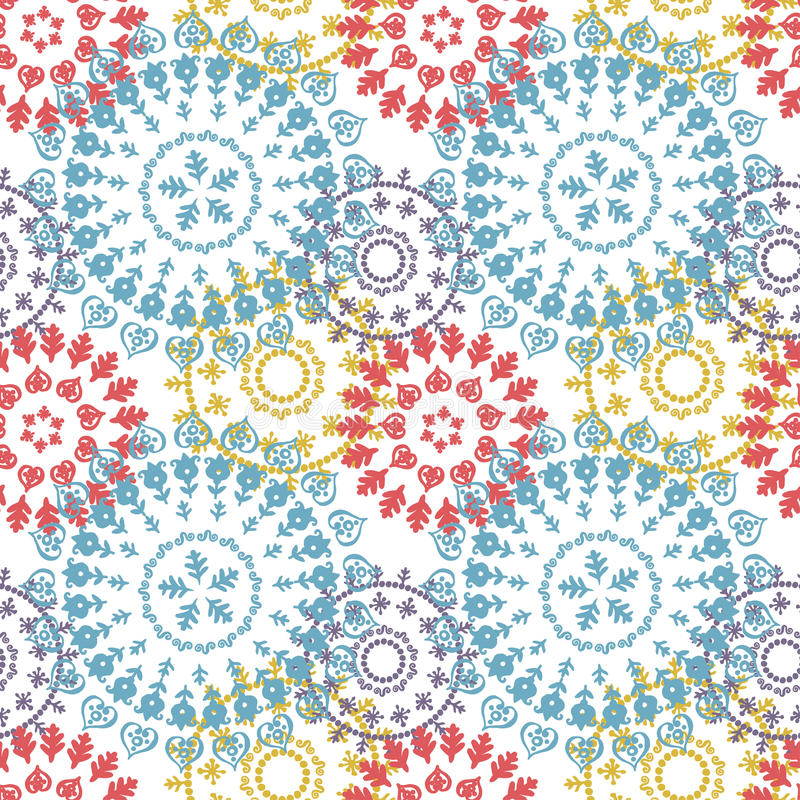 Abstract lace pattern royalty free illustration