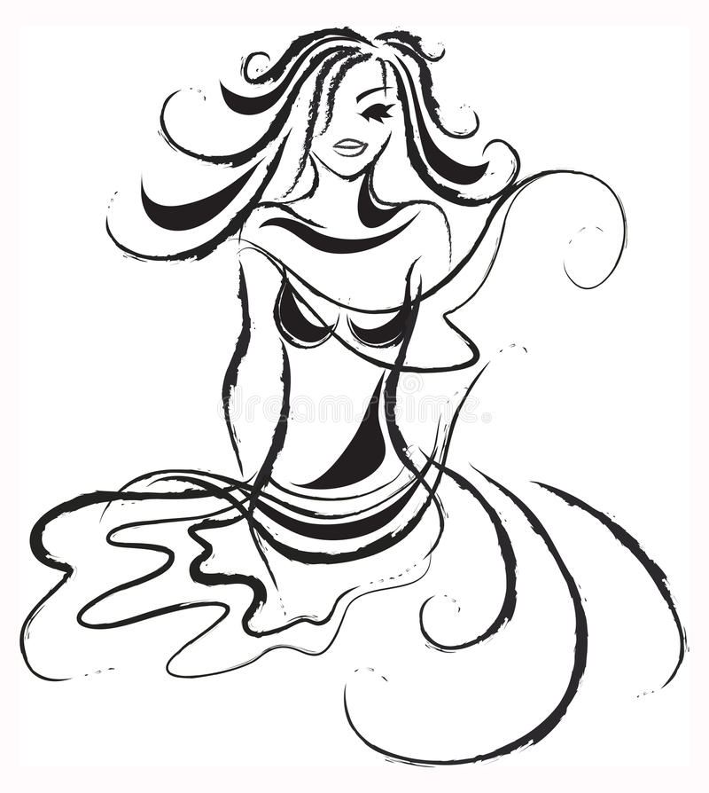 Download Abstract Lady Wind stock vector. Image of body, love - 12737877