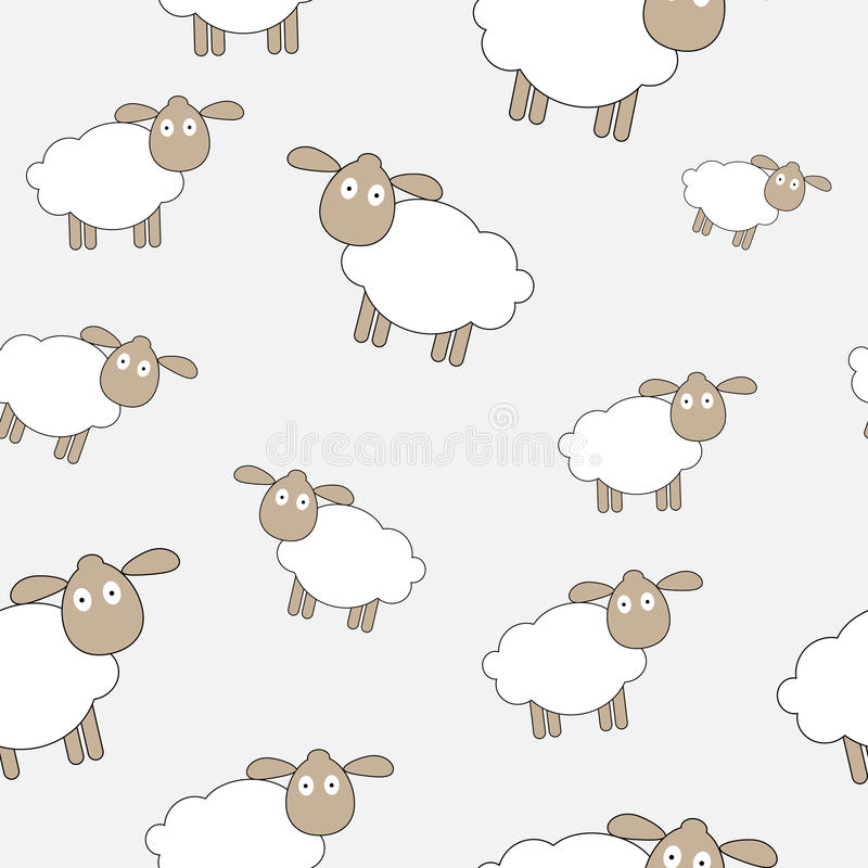 Abstract lamb seamless pattern background vector vector illustration