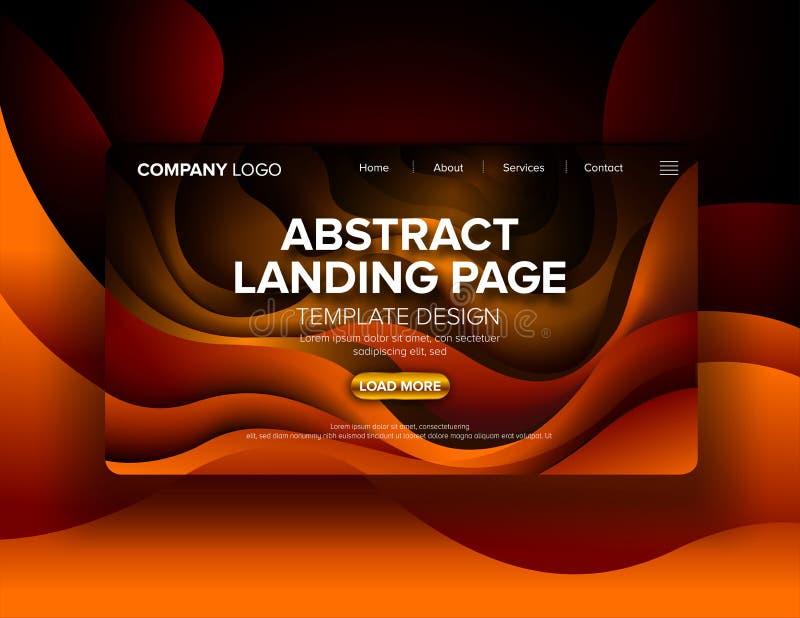 Abstract Landingspaginaontwerp royalty-vrije illustratie