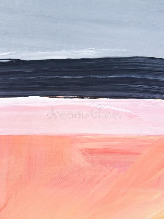 Abstract Landscape Art Painting Background. Modern art. stock photography